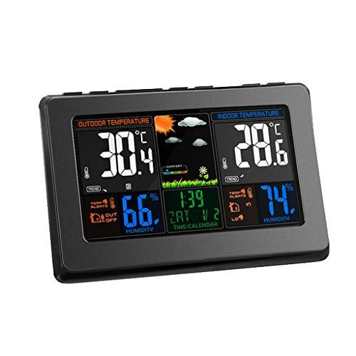 XF-B Estación Meteorológica Inalámbrica Sensor De Humedad Interior Y Exterior For Temperatura Estación LCD Colorida For Pronóstico del Tiempo