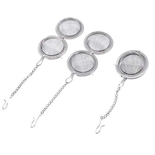 Infusore per tè in acciaio INOX sfera 4,6cm diametro rete tè sfera colino da tè filtri tè intervallo diffusore, 3pezzi