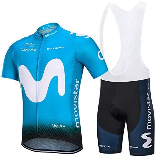 PGONE Camiseta De Ciclismo Pro Movistar para Hombre Manga Corta Verano, Bicicleta...