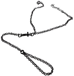 artigianale Bracciale BACIAMANO 18, 20 CM Rosario Croce Argento 925 Regolabile Bracelet 925 Silver Argent Silber Omaggio R...