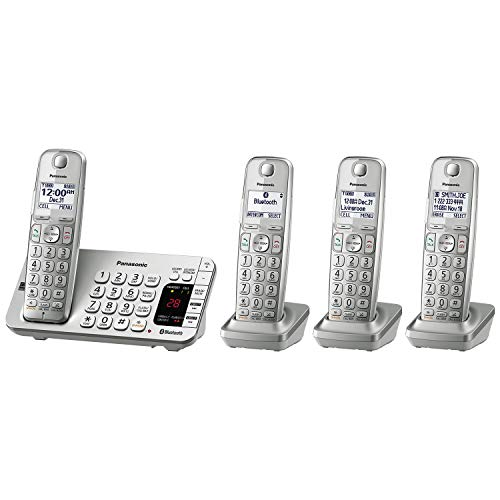 Panasonic Link2Cell Bluetooth Cordless DECT 6.0 Expandable Phone System with Answering Machine and...