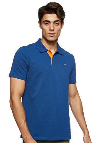 TOM TAILOR Herren Basic Polo_1016502 Poloshirt, After Dark Blue, L EU