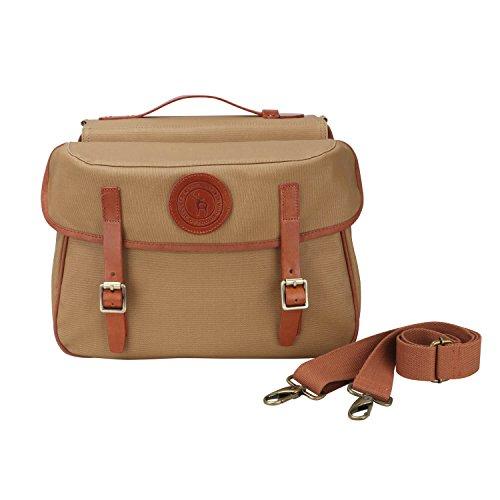 Tourbon Sacchetto portachiavi posteriore della bici della bicicletta della tela di canapa impermeabile di che ricicla il pacchetto del sacchetto del pannier doppio del