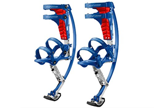 Iconiciris Kids/Child Youth Kangaroo Shoes Jumping Stilts Fitness Exercise (66-110lbs/30~50kg)(Blue)