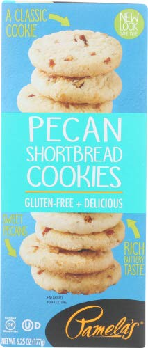 Pamelas Products Cookies Shortbread Pecan , 6.25 oz ( pack of 6)
