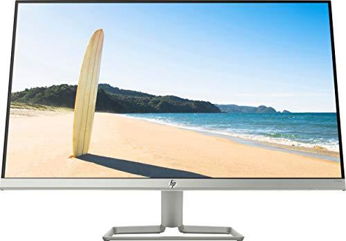 HP 27fw Monitor - 27 Zoll Bildschrim, Full HD IPS Bildschirm, AMD FreeSync, HDMI, VGA, 1920 x 1080, 60Hz, 5ms Reaktionszeit / silber