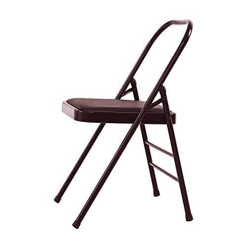 Training Yoga-Stuhl Iyengar Yoga-Stuhl Hilfsstuhl Mutiges Falten-Umgekehrtes Fitness-Stuhl Firm Slip Stabil Und Langlebig Geschenk Fitness (Color : Brown, Size : 46.5 * 78cm)