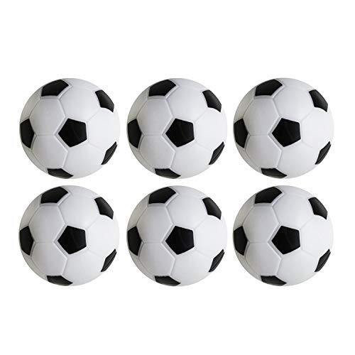 Table Soccer Foosballs Replacements Mini Black and White Soccer Balls...