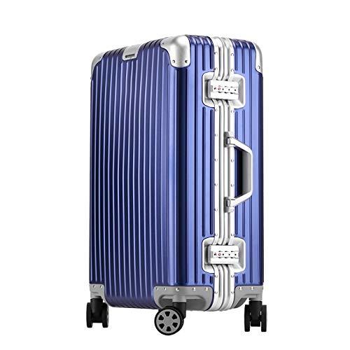 アルミ製スーツケース  旅行用品 TSAロック搭載 機内持ち込み キャリーバッグ キャリーケース大容量 全6色 全金属トランク アルミ合金ボディ ishine06 (E, 20インチ)