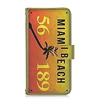 すまほケース 手帳型 カードタイプ DIGNO G 602KC 対応:601KC 対応 ナンバープレート・マイアミ MIAMI ビンテージ USA アメリカン 京セラ ディグノ ジー SoftBank けーたいケース けいたいカバー カード収納 スタンド式 license 00z_171@03c