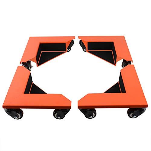 SPACEKEEPER 移動キャリー 台車 キャスター付き 耐荷重625kg 洗濯機 家具置き台 360度回転 ドーリー 静音コーナー台車 4個1セット
