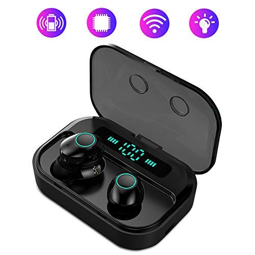 Auriculares Bluetooth Portátil- Limón Audifonos Inalámbricos Bluetooth 5.0 con Pantalla LCD Estéreo…