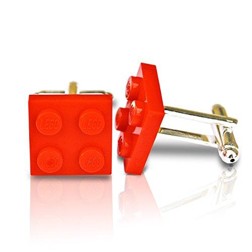 SJP Cufflinks LEGO® plaque Boutons de manchette (Rouge) Mariage, marié, Coffret cadeau pour homme