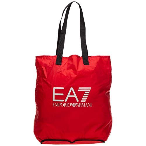 Emporio Armani EA7 bolso de mano hombre tote nuevo train foldable rojo