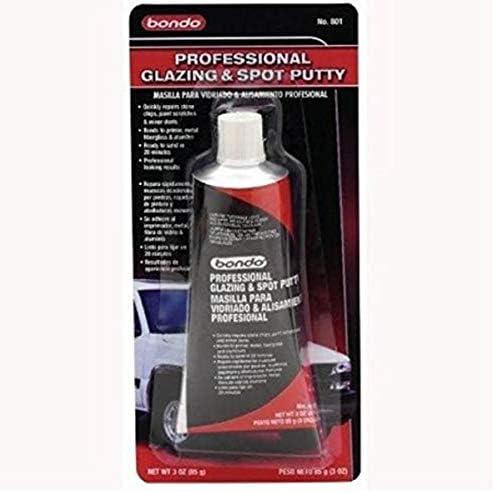 Bondo Glazing and Spot Putty, Fills Pinholes, Scratches, Minor Dings & Hairline Cracks, 4.5 oz, 1 Tube