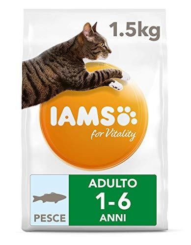 IAMS for Vitality Cibo Secco per Gatti Adulti con Pesce oceanico - 1.5 kg