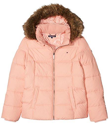 Tommy Hilfiger Mädchen Essential Basic Jacket Jacke, Rosa (Coral Almond 643), 176 (Herstellergröße: 16)