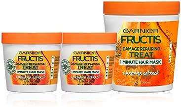 Garnier Hair Care Fructis Papaya Hair Treat Mask - 1 400mL + 2 100mL Kit