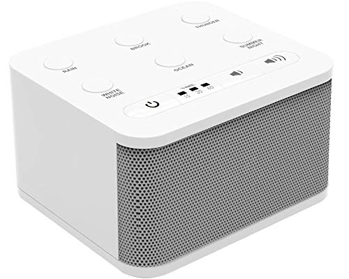 Big Red Rooster 6 Sound White Noise Machine | Sound Machine for Sleeping | Portable White Noise Machine for Office Privacy | Travel Sound Machine Baby | Plug in Or Battery Operated
