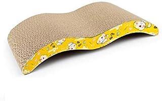 Mumoo Bear Pet Cat Kitty Scratch Board Corrugated Scratching Cardboard Scratch Post Catnip Bed, Wave Design