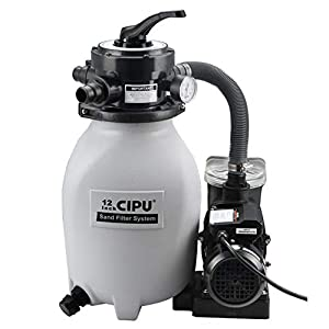 """💦【Easy Installation】- Portable 115V prefilter pool pump with Integrated 12in small-sized filter tank and 6-foot power cord can be easily moved and installed to your above ground pool/bathing tub by common 1.5""""PVC tubing/discharge hoses for high flow...."""