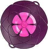 Kochblume vom Erfinder Armin Harecker M 25,5 cm lila | Überkochschutz für Topfgrößen von Ø 14 bis 20 cm | Set mit Microfasertuch!