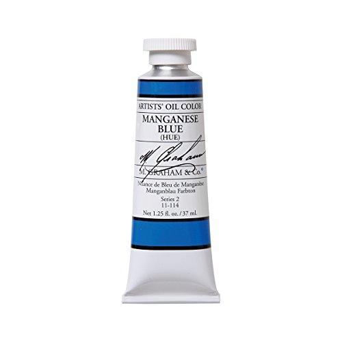M. Graham Artist Oil Paint Manganese Blue 1.25oz/37ml Tube