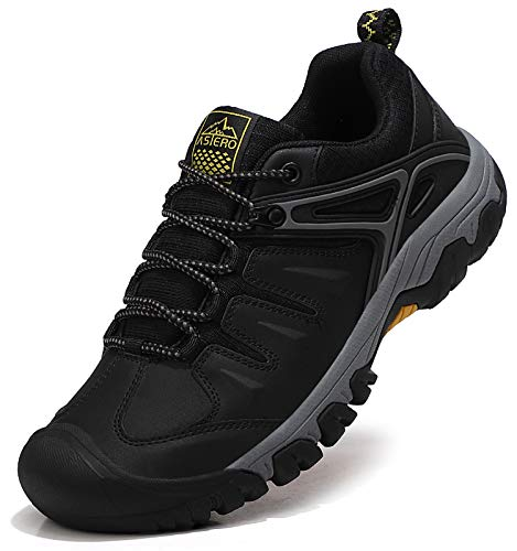 ASTERO Zapatillas Senderismo Hombre Zapatos Trekking Antideslizantes Bajos Botas de Montaña AL Aire Libre Transpirable Sneakers Tamaño 41-46
