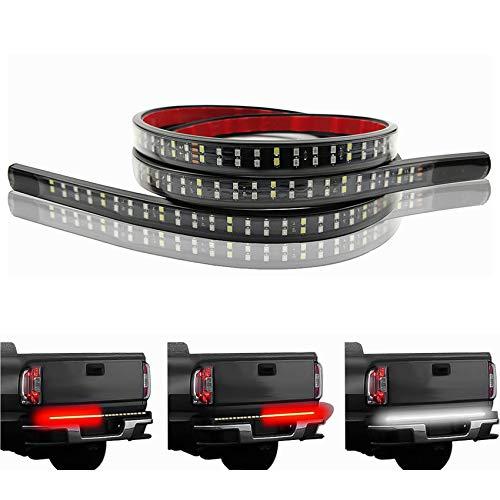 LivTee 60 Inch LED Truck Tailgate Light Bar Strip Super Bright Tail Brake Backup Reverse Turn Signal Running Lights for Pickup Trailer SUV RV VAN Car Towing Vehicle, Red/White