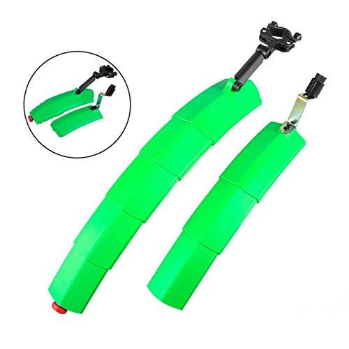 2 guardabarros de plástico para bicicleta de montaña, parte delantera y trasera con luz trasera guardabarros para bicicleta
