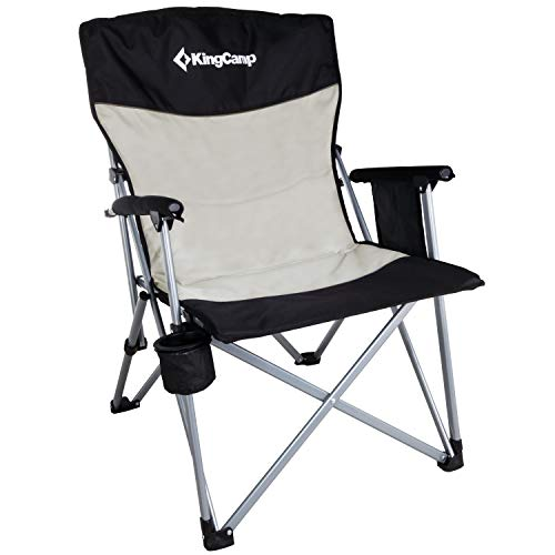 KingCamp Camping Chair Hard Arm Folding Camp Chair High Back Ergonom Outdoor...
