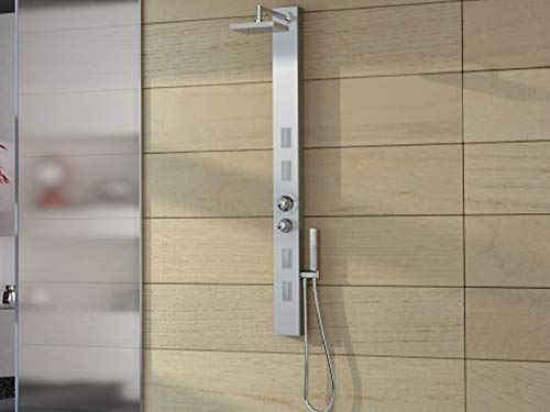 Jacuzzi Skin colonna doccia multifunzione a parete 944906215-Satinato-Con Miscelatore Termostatico
