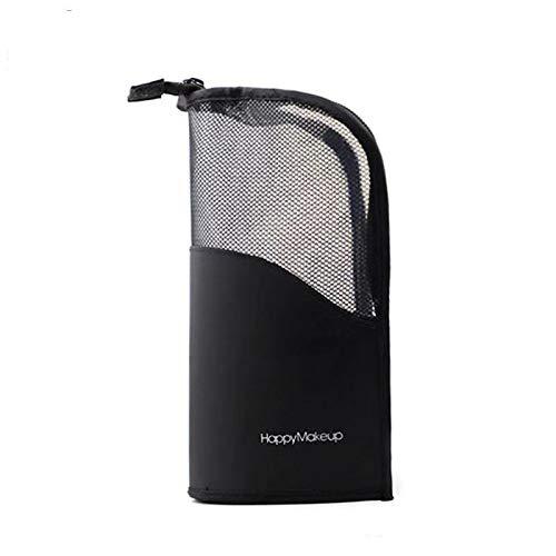 INstyleメイクブラシケース化粧筆ポーチ化粧ポーチ旅行収納大容量自立式ブラシポーチメイクブラシホルダーバッグスタンドケース筆箱