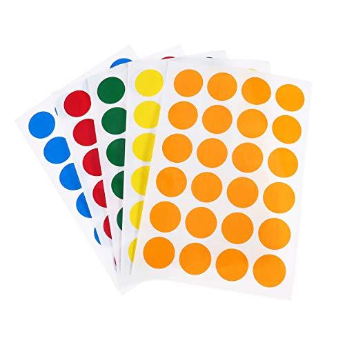 NUOBESTY 10 pegatinas adhesivas de puntos de colores con código de puntos para sellar productos de ropa