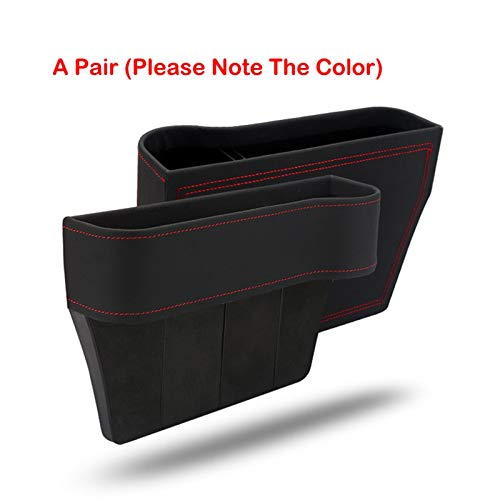 Asientos de Piel de la PU de coches Gap Caja de almacenamiento del asiento de coche hendidura lateral for los monederos de la Copa llaves del coche Teléfono Asiento hendidura lateral universal Auto Pa