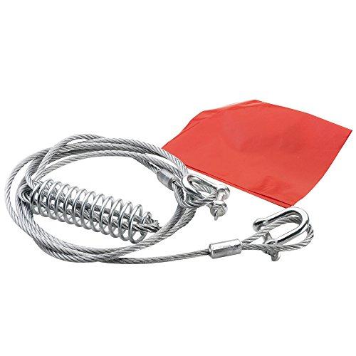 Bottari 28009 Abschleppseil aus Stahl, Länge : 400 cm, Zugkraft 5000 kg, Durchmesser 0.8 cm