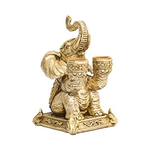 haiqingqin Metallo Portacandele Elefante Dorato Nordic Candlestick Animale Arte Scultura