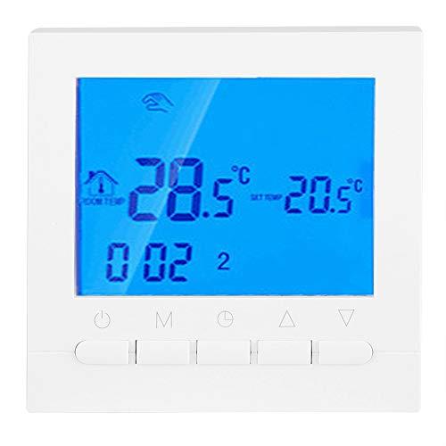 Raguso - Termostato inalámbrico con mando a distancia para calefacción eléctrica