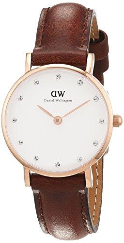 Daniel Wellington Damen-Armbanduhr XS Classy St.Mawes Analog Quarz Leder DW00100059