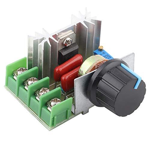 25A 50-220V 2000W Regulador de Voltaje del Controlador de Velocidad del Motor de CA, Atenuador SCR LED de Alta Calidad Módulo del Controlador de Velocidad del Motor