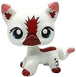 N/N Mini Pet Shop, Hand Painted LPS Toy LPS Brown/Blue Eye White German Shepherd Cat Figures Kid Gift