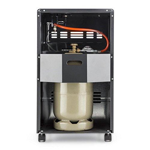 DURAMAXX Kamtschatka • Gasheizofen • Gasheizgerät • Gasheizer • Infrarot Keramikbrenner • integrierter Piezozünder • 3-stufig regelbares Gasventil • 1500 – 4100 Watt Wärmeleistung • Butan- oder Propangasflaschen bis 15 kg verwendbar • schwarz; - 3
