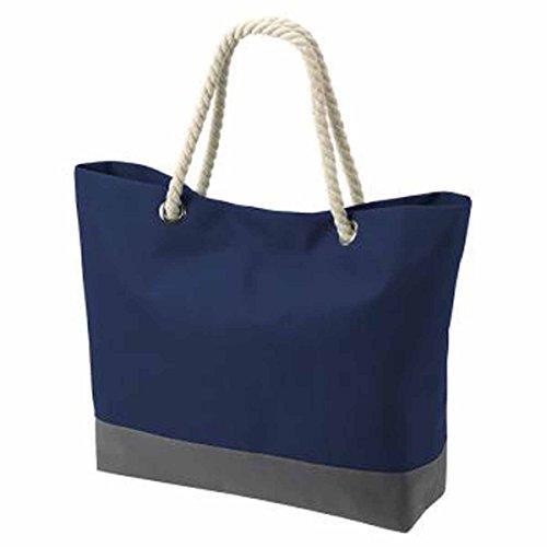 HALFAR - sac shopping - sac dee plage - anses cordes - 1807785 - mixte homme femme (Bleu marine)