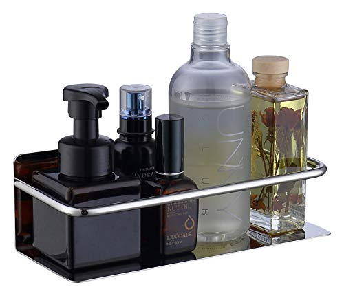 HomeHeng Mensola Doccia, Acciaio Inossidabile Autoadesivo Mensole Bagno Portaoggetti Mensola per Doccia, Cromo lucido,K07-HC