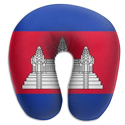 LisaArticles Reisekissen,U-Förmige Nackenkissen Mit Kambodschanischer Flagge, Weiches, Bequemes Stützkissen Für Die Schlafsofa-Auflage