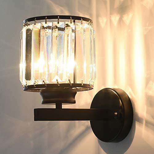 WJPL Moderne binnenwandlamp met lampenkap van glas, postmoderne stijl wandlamp voor woonkamer slaapkamer werkkamer leeslamp wandlamp 110-220V/E27