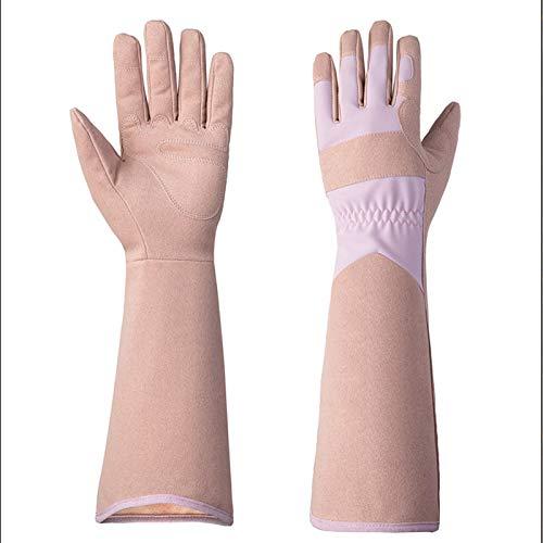 NXACETN Lange Gartenhandschuhe, Rosen-Handschuhe für Damen und Herren, dornsichere Gartenarbeitshandschuhe, schützen Sie Ihre Arme bis zum Ellenbogen, das beste Gartengeschenk für Damen