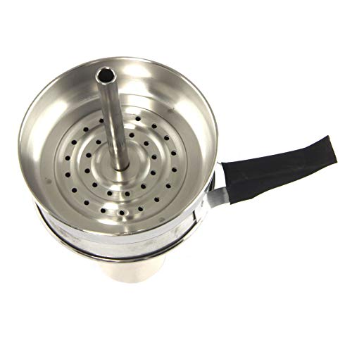 Chimney Spire - Recipiente para carbón con cabeza de cachimba