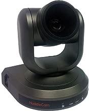 HuddleCamHD 2MP 1080p Indoor USB 3.0 PTZ Video Conferencing Camera, 10x Optical Zoom, 30fps, 53deg. Wide FOV, Gray