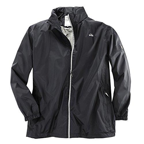 Brigg Schwarze Outdoor Regenjacke Übergröße, XL Größe:4XL